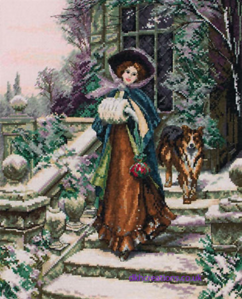 A Winter Rose Cross Stitch Kit